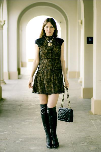 black lace Shakuhachi dress