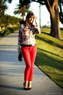 Red-skinny-jeans-witchery-jeans-red-silk-zara-blouse
