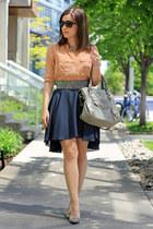 Vero Moda skirt - balenciaga bag - J Crew blouse