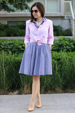 JCrew shirt - Nine West heels