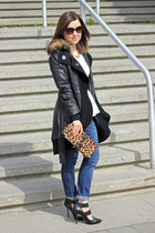 Rudsak coat - Topshop jeans - Henri Bendel bag - Topshop heels