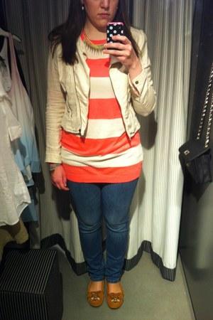 H&M blazer - Esprit jeans - Mango sweater