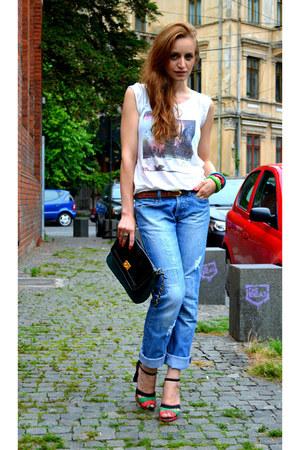 Bershka jeans - meli melo purse - Glow blouse