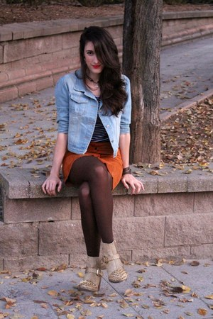 tawny suede zaful skirt - beige spiked AmiClubWear boots