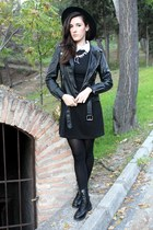 black combat boots DealSale boots - black collar DressLink dress