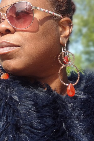 ChristinaMaria Design Group earrings - faux fur Zara International coat