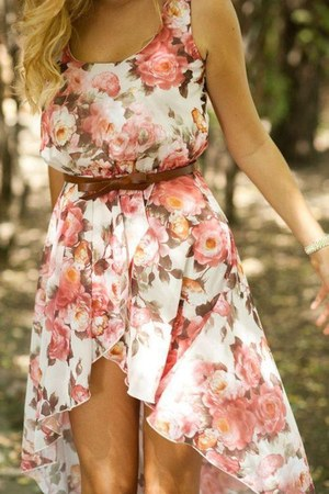 salmon floral Dorothy Perkins dress