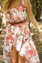 salmon floral Dorothy Perkins dress