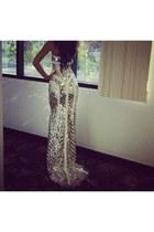 gold elegant Chanel dress