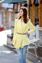 light yellow knitted sweater