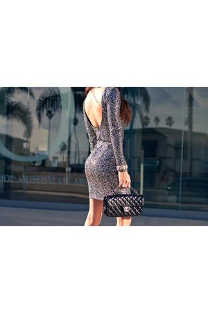 charcoal gray sparkly next dress