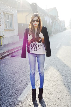 H&M jeans - black new look blazer - New Yorker t-shirt