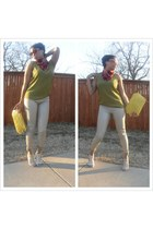 cotton on shirt - Forever 21 leggings - Vince Camuto heels