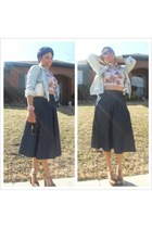 Chanel bag - Dollhouse heels - Forever 21 skirt