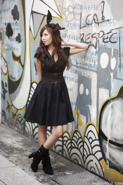black H&M dress - black H&M shoes - black Forever 21 top