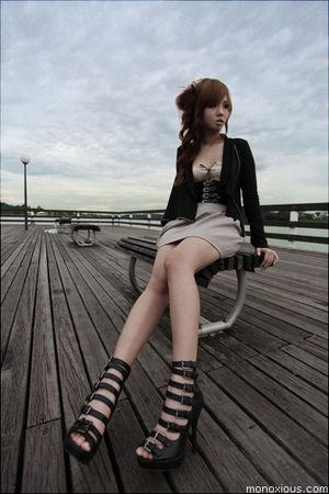 black Dorothy Perkins belt - black Forever 21 shoes - beige Topshop dress