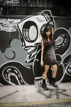 cotton on vest - Guess intimate - Urban Outfitters dress - DIY accessories
