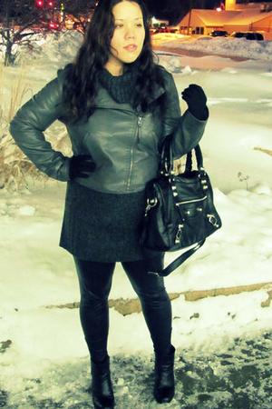 gray Target jacket - gray JC Penny sweater - black JC Penny leggings - black For