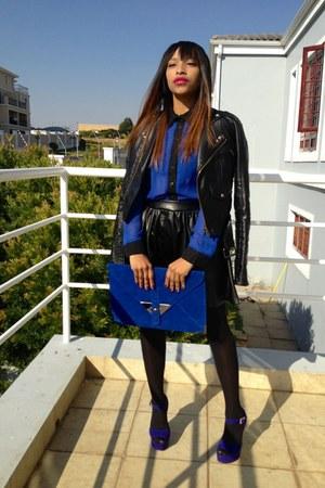 blue Steve Madden shoes - blue Mr Price shirt - blue Foschini bag