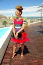 SASS DIVA necklace - Henry Hollan x Mr price dress - black clutch Truworths bag