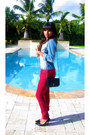 Maroon-express-jeans-black-chanel-bag-black-guess-heels