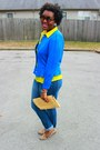 Navy-skinny-jeans-gap-jeans-light-yellow-woven-clutch-target-purse