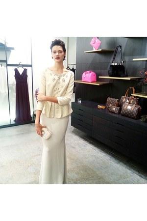 white dress - white Gizia dress