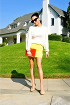 Vintage Dior Clutch bag - Jenni Kayne skirt - Celine blouse