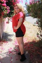 red fancy steps blouse