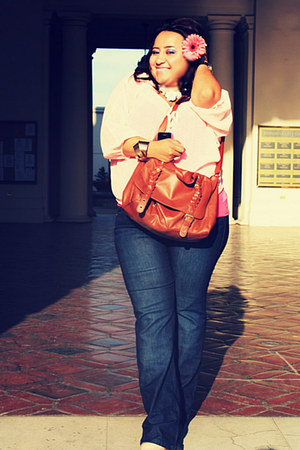 peach cotton on blouse