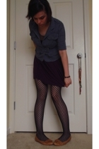 Mossimo jacket - lotus dress - Urban Outfitters stockings - etienne aigner shoes