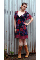 delias dress - Destroy boots - SkwrrL Collective accessories