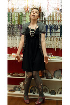 Gap dress -  tights - SkwrrL Collective necklace - Old Navy shoes
