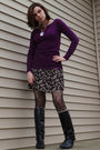 Pink-forever-21-sweater-black-gap-skirt-black-hot-topic-tights-black-vinta