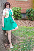 green Forever 21 dress - camel Seychelles shoes