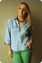 vintage shirt - H&M pants - H&M necklace