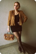 H&M blazer - new look tights - new look bag - H&M top - H&M skirt