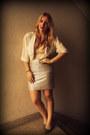 Vintage-blouse-vedette-shapewear-bodysuit-h-m-skirt-ebay-heels