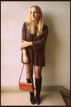 vintage dress - new look boots - vintage bag