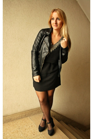 H&M dress - Zara jacket - Newlook wedges
