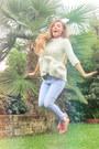 Zara-jeans-zara-sweater-h-m-t-shirt-studded-etam-flats