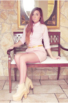 light pink Vicolo shirt - bubble gum Zara skirt