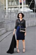 Zara coat - & other stories purse - Zara skirt - new look sandals - Zara blouse