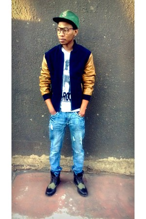 baseball jacket Mr price jacket - Mr Price boots - Mr Price jeans