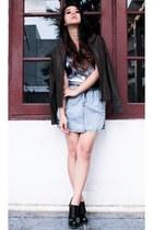 Icon Ninety Nine boots - violet Zara top