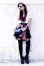 Decimal-shoes-boots-tartan-shirt-cotton-on-shirt-persunmall-bag