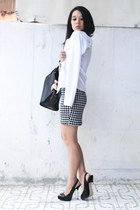 Zipper&Lace dress - Charles & Keith bag - Zara heels