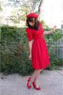 Vintage-dress-felt-1980s-vintage-hat-charlotte-russe-heels