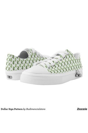 green printed DFLCPrints shoes - white printed DFLCPrints shoes