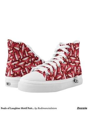 red fun DFLCPrints shoes - carrot orange fun DFLCPrints shoes